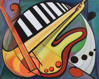 Music Painting Royalty Free Stock Image