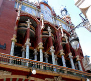 Music Palace in Barcelona royalty free stock image