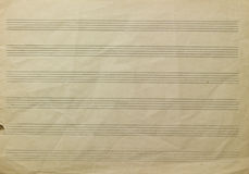 Music paper Royalty Free Stock Photography
