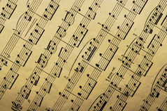 Music paper sheet Stock Photos