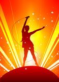 Music party. With exploding background vector Royalty Free Stock Images