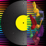 Music Party Background vector illustration
