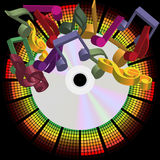 Music Party Background Stock Image