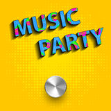 Music party concept poster Royalty Free Stock Photo