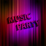Music party concept poster Stock Photography