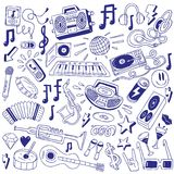 Music party - doodles Stock Images