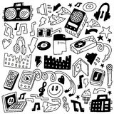 Music party - doodles set Stock Photography