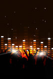 Music Party Event. Party music background for flyers and nightclub events Stock Images