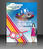 Music Party Flyer Design Stock Photo