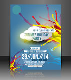 Music Party Flyer Design Stock Image