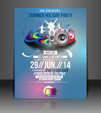 Music Party Flyer Design Stock Images