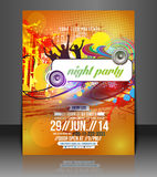Music Party Flyer Design Royalty Free Stock Image