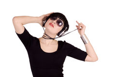Music party girl Stock Photo