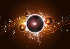 Music Party Gold Background Stock Photo