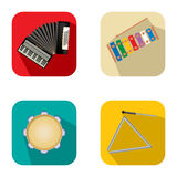 Music and party icons Royalty Free Stock Image
