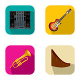Music and party icons Royalty Free Stock Photography