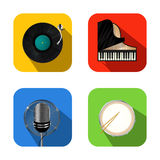 Music and party icons Royalty Free Stock Photo