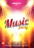 Music Party Poster Background Template - Vector Illustration. Stock Image
