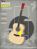 Music party poster template design Royalty Free Stock Images