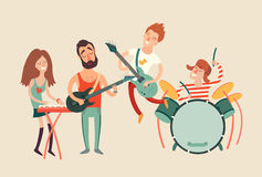 Music party poster,. Vector illustration Royalty Free Stock Photography