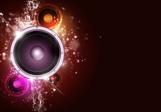 Music Party Red Background Royalty Free Stock Images