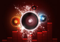 Music Party Red Background Stock Photos