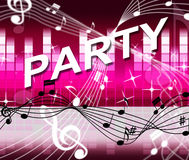 Music Party Represents Sound Track And Joy Royalty Free Stock Photo