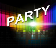Music Party Shows Sound Track And Celebrations Stock Photo