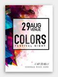 Music Party Template, Banner or Flyer design. Festival Night Party Template, Dance Party Flyer, Musical Party Banner or Club Invitation with colorful abstract Stock Images