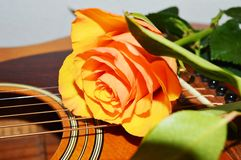 Music and passion, close-up Royalty Free Stock Image