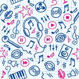 Music pattern Stock Photos