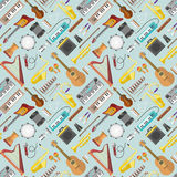 Music pattern vector. Stock Photos