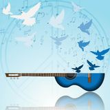 Music of peace Stock Photo
