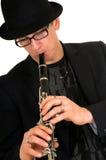 Music performer, clarinet Stock Photo