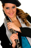 Music performer, clarinet Stock Photos
