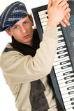 Music performer, keyboard Stock Photos