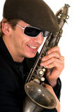 Music performer, saxophone Stock Photo
