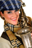 Music performer, saxophone Stock Photography