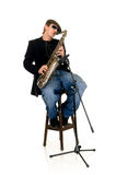 Music performer, saxophone Stock Images