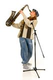 Music performer, saxophone Royalty Free Stock Images