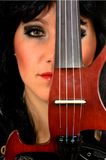 Music performer, violinist Stock Images