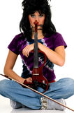 Music performer, violinist royalty free stock photography
