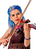Music performers girl violinist Stock Images
