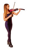 Music performers girl violinist Royalty Free Stock Photo