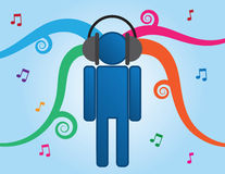 Music Person Headphones Royalty Free Stock Image