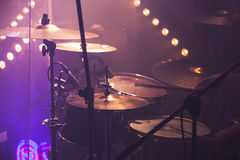 Music photo background, rock drum set Royalty Free Stock Images