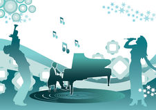 Music and piano Stock Photo