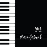 Music piano festival poster template. Royalty Free Stock Photography