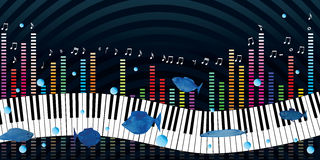 Music piano night banner Stock Photos