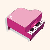Music piano theme elements vector,eps Royalty Free Stock Photography